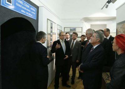 Bundespräsident Heinz Fischer mit Präsident Milos ZemanMuseum of the Region in Krumau/Tschechische Republik, Oktober 2013