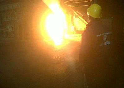 Heißer Einsatz im Stahlwerk Trinec, 2013