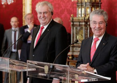 Staatsbesuch von Milos Zeman in Wien, April 2013