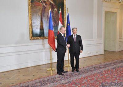 Premierminister Sobotka beim BK Faymann