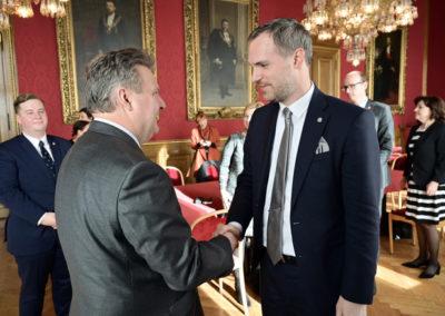 Prager Bürgermeister Dr. Zdeněk Hřib beim Wiener Bürgermeister Dr. Michael Ludwig